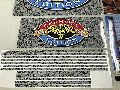 Arcade1up Cabinet Riser Graphics - Street Fighter 2 II Graphic Sticker Decal Set 7