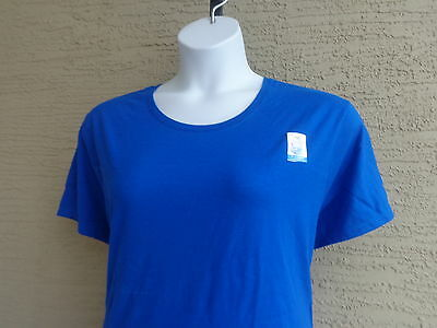 NWT Just  My Size 3X Cotton Blend S//S Split Neck Tee Top White