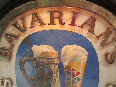 Vtg Bavarians Select Beer Brewery Light Lighted Advertising Sign Bar Man Cave 3