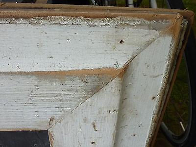 "c1920 VINTAGE schoolhouse SLATE chalkboard repurposed w salvaged WOOD FRAME 26"" 3"