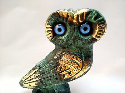 Owl Symbol Of Athena Goddess Of Wisdom Ancient Greek Bronze Museum Replica 4