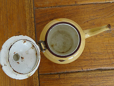 Q0881 Esmaltada Jarras de Té - Esmalte - Jarra - Kaffeekaennchen - Beige 6