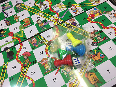 Snakes & Ladders OR Ludo Traditional Travel Family Board Game Kid Adult 18x18cm 2