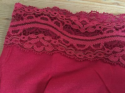 BNWT Ladies MATERNITY Red Lace Detail Under The Bump Briefs Size 16 2