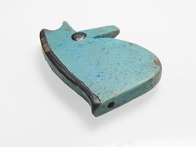 Zurqieh - Af2205- Ancient Large Faience Eye Of Horus Amulet, 1075 - 600 B.c