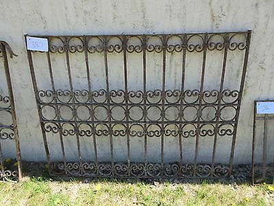 Antique Victorian Iron Gate Window Garden Fence Architectural Salvage Door #387 4
