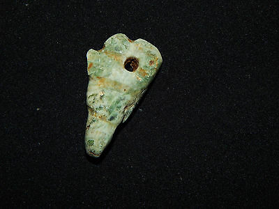Avian Pendant Bead, Green Jade, Nicoya, Authentic Pre-Columbian 2