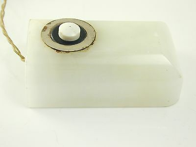 Antique art deco white marble bell pusher butler maids bell circa 1920s 4