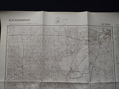 Landkarte Meßtischblatt 3458 Blesen / Bledzew i.d. Neumark, Schwerin, 1938