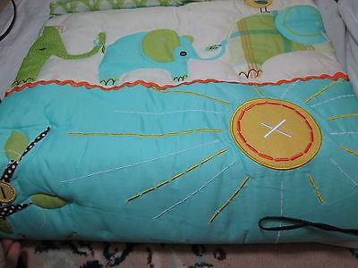 8 Of 12 7pc Laura Ashley Baby Elephant Parade Crib Bedding Set Quilt Valance Sheet