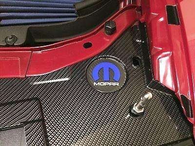 Challenger Charger Under Hood Beverage Delete Emblem Decal Black & Red R/T 3