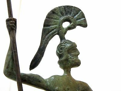 Ancient Greek Bronze Museum Statue Replica of Achilles With Spear & Shield Troy 5