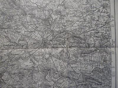 Karte des Deutschen Reiches 418 Bischofswerda, Radeberg, Pulsnitz, Elstra, 1923