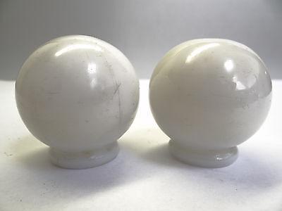 Antique White Glass Architectural Decorative Finial Pieces Balls Accent Parts 7