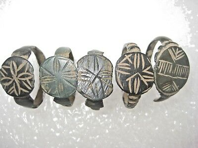 ANCIENT Bronze Rings Find Ancient ROMAN MEDIEVAL ARTIFACT 3