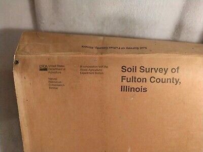 Lewistown Illinois Cuba Fulton County vintage USDA soil map used lot maps books 4