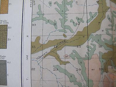 Color Soil Survey Map McKenzie North Dakota Bennie Pierre Creek Sheep Butte 1907 4