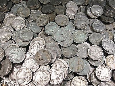 Full Date Indian Head Buffalo Nickel Coin Lot Set Mixed Date Roll 40 3
