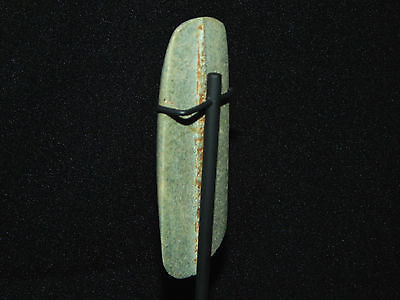 Pre-Columbian Jade Ceremonial Pendant, Custom Stand, Authentic, Very Large 4