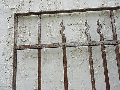 Antique Victorian Iron Gate Window Garden Fence Architectural Salvage Door #66 4