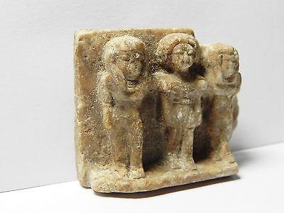 Zurqieh - Af26- Ancient Egypt. Triad Stone Plaque. Old Kingdom 2