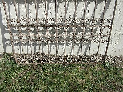 Antique Victorian Iron Gate Window Garden Fence Architectural Salvage Door #367 4