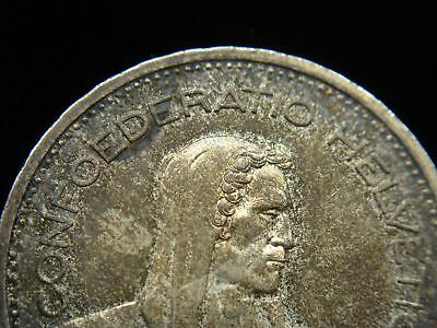 1951 B Swiss 5 Francs Silver Coin - Lovely & Orig. Toning 6