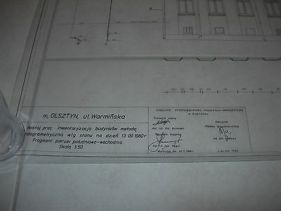 Vintage Architectural Scale Drawing Inventory And Documentation (17) 1980 Poland 2