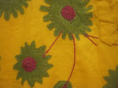 embroided yellow kaftan size large 2
