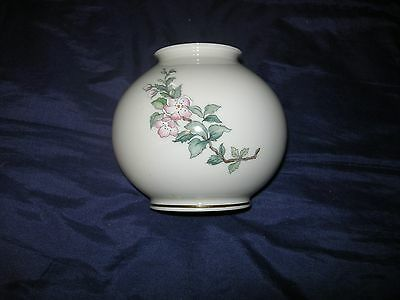 Lenox Serenade Globe Flower Vase Pink Flowers Bird Mint Condition