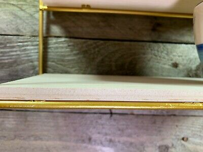 House Shape Wall Shelves Cube Storage Shelving Antique Gold Metal Frame Unit NEW
