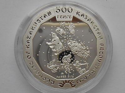 3000 Box COA Kazakhstan Kasachstan 500 tenge 2014 Cat Manul silver 1 oz  mint