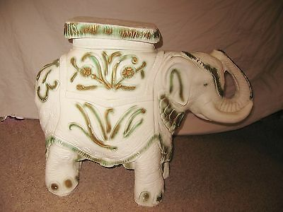 Phenomenal Vintage Elephant Plant Stand Table Garden Stool Glazed Unemploymentrelief Wooden Chair Designs For Living Room Unemploymentrelieforg