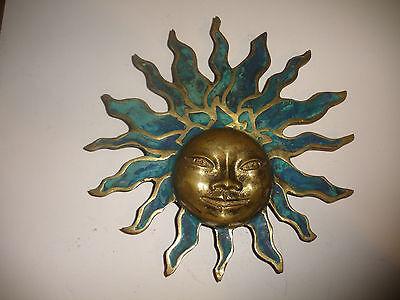 Rare Door Handle? Mid Century sign Pepe Mendoza Mexico Sun Face sculpture plaque 7