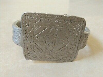 Rare Extremely Ancient Viking Bracelet Vintage Silver Color Artifact Authentic 7