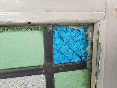 Vintage European Seagull Stained Glass Window Panel (2958)NJ 5