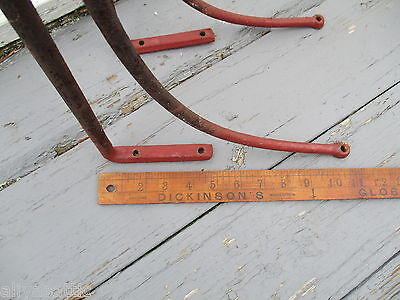 Antique 1800's  Equestrian Hand Forged Iron Tack Saddle Rack Horse 8