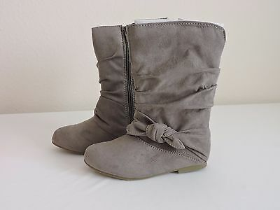 New Girls Toddler Jumping Beans 83941 Kozy Gray  Knit Bootie 4O