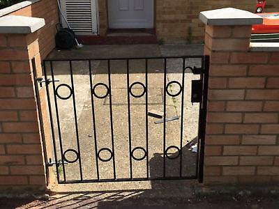 STEEL SECURITY DOOR, Gate  Metal Garden Side Gate / Wrought Iron Gate