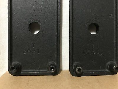 Set Of 2 Matching Front & Back Cast Iron Doorknob Backplates