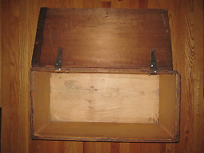 Antique Victorian American Folk Art Painted Trunk Bailey Somerville Ma Boston 5