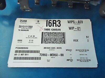 Toyota Highlander New Oem Passenger Inflator Module . Part#73960-0E050
