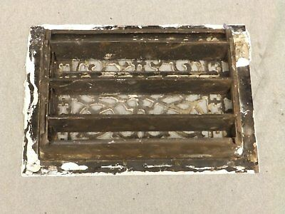 Antique Cast Iron Victorian Heat Grate Register Vent Old Vtg Hardware 619-16 4