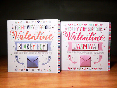 Special Valentine's Day surprise reveal card Personalised Valentine cards 5