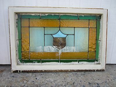 ~ Antique American Stained Glass Window ~ 24 X 36 ~ Architectural Salvage ~ 6