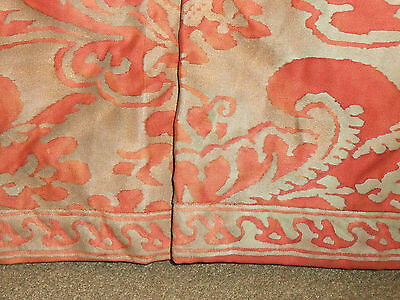 STUNNING Pair Vintage Fortuny Chairs Upholstered Corone Fabric Down Fill Tufted 4