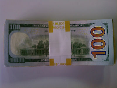 4,000 SELF-SEALING CURRENCY Bands - $10,000 Denomination - Straps Money  100's