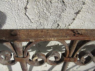 Antique Victorian Iron Gate Window Garden Fence Architectural Salvage Door #367 6