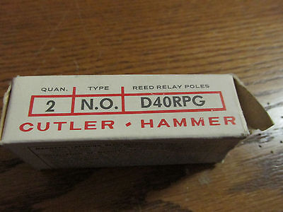 NEW NOS Cutler Hammer D40RPG Powereed Contact Relay Magnetic Latching
