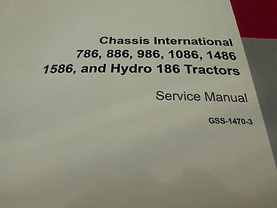 international ih 786 886 986 1086 1486 1586 hydro-186 tractor     on